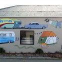 Mural at Millers Flat Holiday Park - Resene acrylic paint
