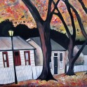 An evening in Arrowtown - acrylic
