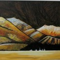 Mountains of Gold - acrylic, framed (93 x 55)