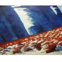 Snow Tussock Hawkdun Range - oil on canvas paper (86 x 67)