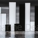 Black, White and Blue - 30x60cm Acrylic and Engraving on Plexiglass and Board