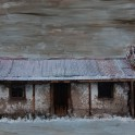 Cottage, Nevis Valley, Central Otago - Hand painted colour photograph