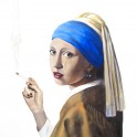 The Girl with the Black Pearl Earring - Acrylic (100cm x 100cm)