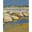 Moeraki Boulders - acrylic on canvas (38cm x 76cm)