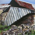 Ruins, Butlers Farm, Fruitlands - acrylic on board (85cm x 60.5cm)